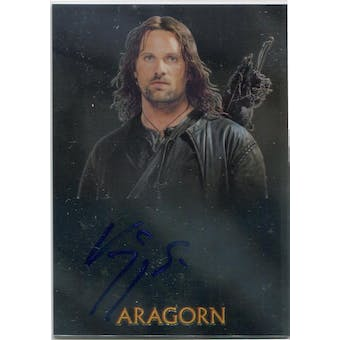 Viggo Mortensen Topps Chrome Lord of the Rings Trilogy Aragorn Autograph (Reed Buy)