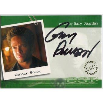 Gary Dourdan Strictly Ink CSI #CSI-A2 Warrick Brown Autograph (Reed Buy)