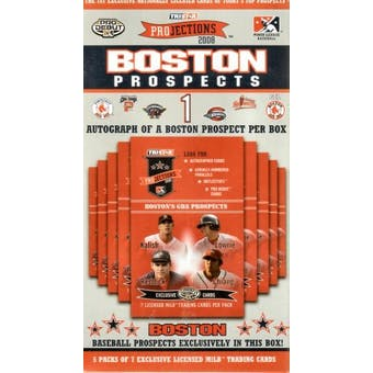 2008 TriStar Projections Baseball Boston Red Sox Prospects Box