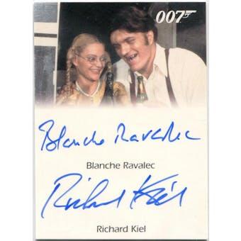 Blanche Ravalec/Richard Kiel Rittenhouse James Bond Dolly/Jaws Autograph (Reed Buy)