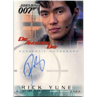 Rick Yune Rittenhouse James Bond #A6 Zao Autograph (Reed Buy)