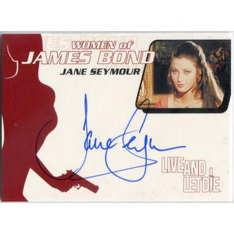 Jane Seymour Rittenhouse Women of James Bond #WA14 Solitaire Autograph (Reed Buy)