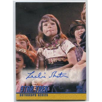 Leslie Shatner Rittenouse Star Trek TOS #A160 Onlie Girl Autograph (Reed Buy)