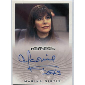 Marina Sirtis Rittenhouse Star Trek Nemesis #NA10 Deanna Troi Autograph (Reed Buy)