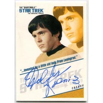 Walter Koenig Rittenhouse Quotable Star Trek TOS #QA4 Chekov Autograph (Reed Buy)