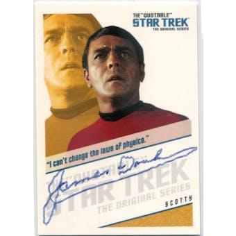James Doohan Rittenhouse Quotable Star Trek TOS #QA7 Scotty Autograph (Reed Buy)