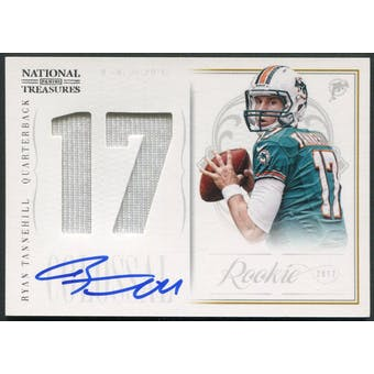 2012 Panini National Treasures #6 Ryan Tannehill Rookie Colossal Jersey Auto #43/50