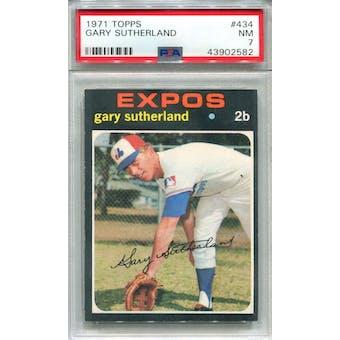 1971 Topps #434 Gary Sutherland PSA 7 *2582 (Reed Buy)