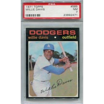 1971 Topps #585 Willie Davis PSA 7 *2471 (Reed Buy)