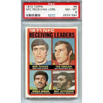 1972 Topps #6 NFC Receiving Leaders PSA 8 *1584 (Reed Buy)