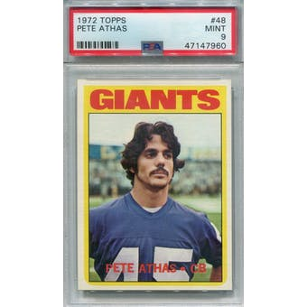 1972 Topps #48 Pete Athas PSA 9 *7960 (Reed Buy)