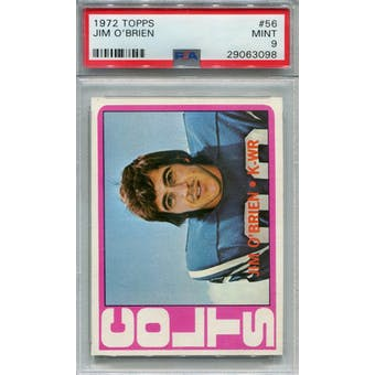 1972 Topps #56 Jim O'Brien PSA 9 *3098 (Reed Buy)