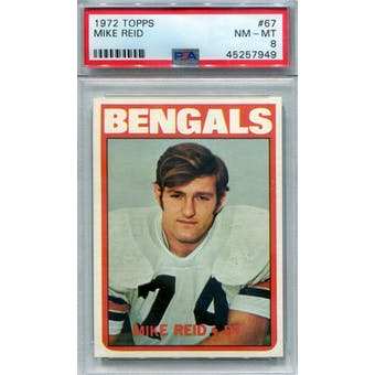 1972 Topps #67 Mike Reid PSA 8 *7949 (Reed Buy)