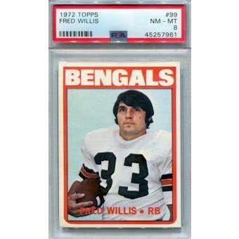 1972 Topps #99 Fred Willis PSA 8 *7961 (Reed Buy)