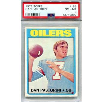 1972 Topps #156 Dan Pastorini RC PSA 8 *9807 (Reed Buy)
