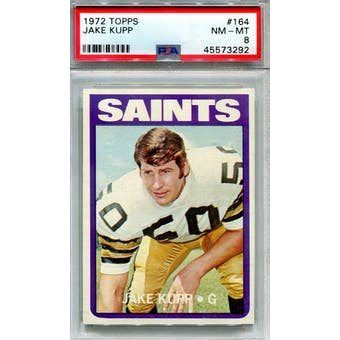1972 Topps #164 Jake Kupp PSA 8 *3292 (Reed Buy)