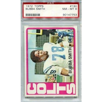 1972 Topps #190 Bubba Smith PSA 8 *7753 (Reed Buy)