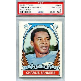 1972 Topps #264 Charlie Sanders AP PSA 8 *1183 (Reed Buy)