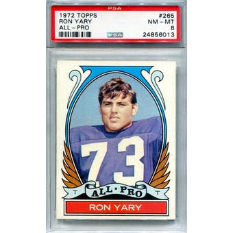 1972 Topps #265 Ron Yary AP PSA 8 *6013 (Reed Buy)