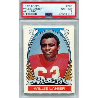 1972 Topps #283 Willie Lanier AP PSA 8 *1118 (Reed Buy)