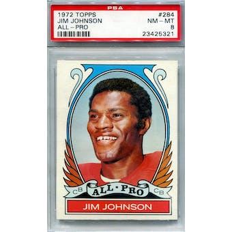 1972 Topps #284 Jim Johnson AP PSA 8 *5321 (Reed Buy)