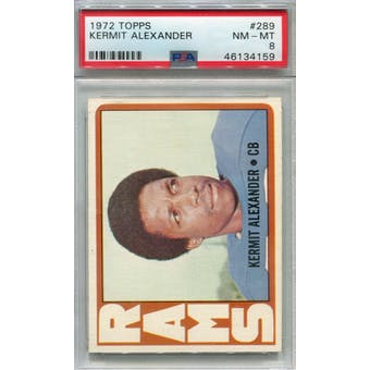 1972 Topps #289 Kermit Alexander PSA 8 *4159 (Reed Buy)