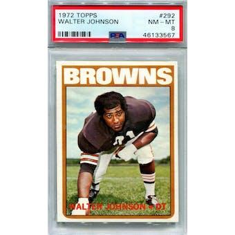 1972 Topps #292 Walter Johnson PSA 8 *3567 (Reed Buy)