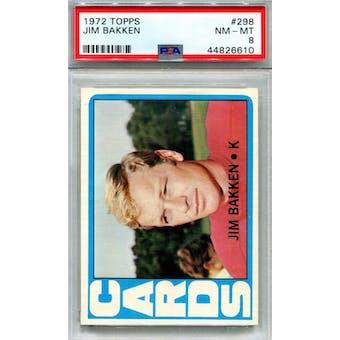 1972 Topps #298 Jim Bakken PSA 8 *6610 (Reed Buy)