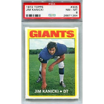1972 Topps #305 Jim Kanicki PSA 8 *1364 (Reed Buy)