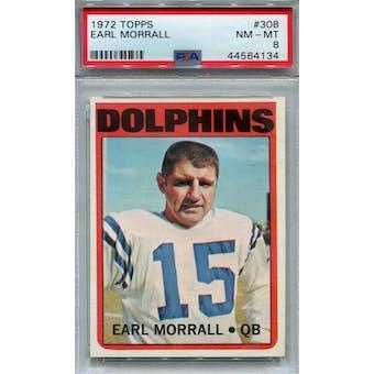 1972 Topps #308 Earl Morrall PSA 8 *4134 (Reed Buy)
