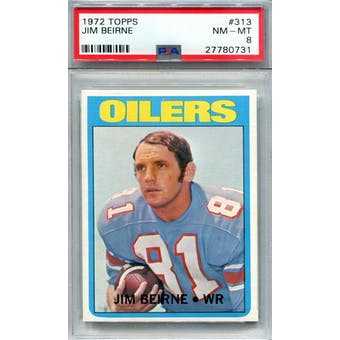 1972 Topps #313 Jim Beirne PSA 8 *0731 (Reed Buy)