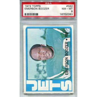 1972 Topps #322 Emerson Boozer PSA 8 *2393 (Reed Buy)