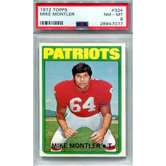1972 Topps #324 Mike Montler PSA 8 *7077 (Reed Buy)