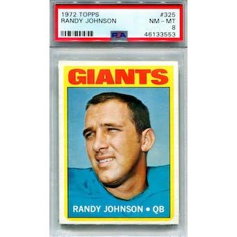 1972 Topps #325 Randy Johnson PSA 8 *3553 (Reed Buy)