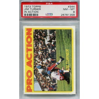 1972 Topps #344 Jim Turner IA PSA 8 *1358 (Reed Buy)