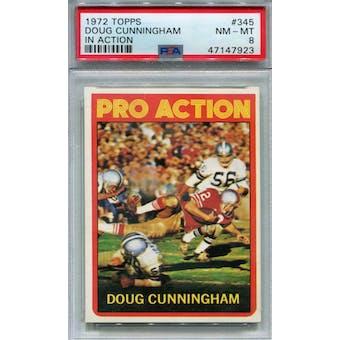 1972 Topps #345 Doug Cunningham IA PSA 8 *7923 (Reed Buy)