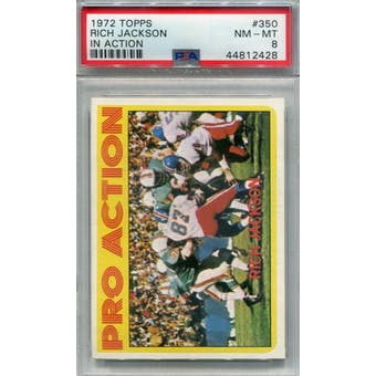 1972 Topps #350 Rich Jackson IA PSA 8 *2428 (Reed Buy)