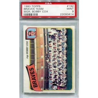 1980 Topps #192 Braves Team Bobby Cox PSA 9 *3414 (Reed Buy)