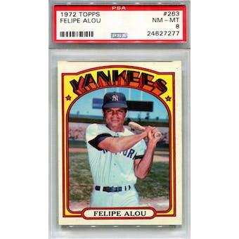 1972 Topps #263 Felipe Alou PSA 8 *7277 (Reed Buy)