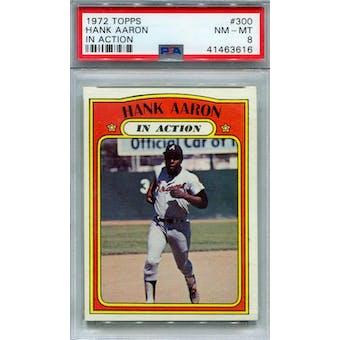 1972 Topps #300 Hank Aaron IA PSA 8 *3616 (Reed Buy)