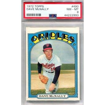 1972 Topps #490 Dave McNally PSA 8 *2993 (Reed Buy)