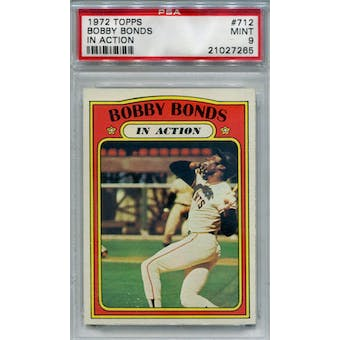1972 Topps #712 Bobby Bonds IA PSA 9 *7265 (Reed Buy)