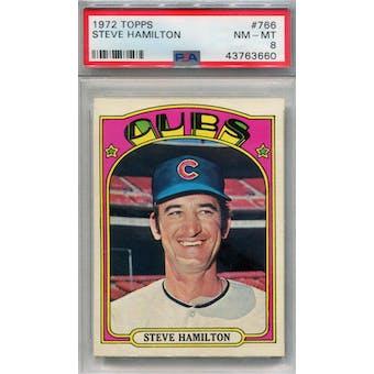 1972 Topps #766 Steve Hamilton PSA 8 *3660 (Reed Buy)