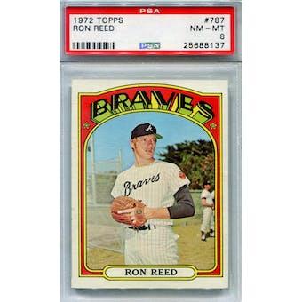 1972 Topps #787 Ron Reed PSA 8 *8137 (Reed Buy)