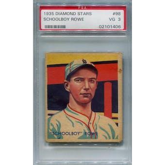 1935 Diamond Stars #98Schoolboy Rowe PSA 3 *1406 (Reed Buy)
