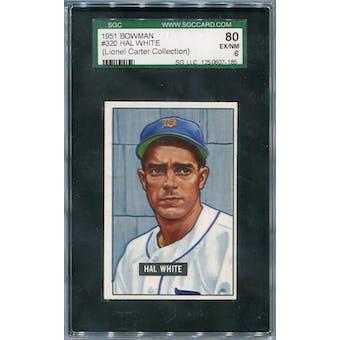 1951 Bowman #320 Hal White SGC 80 *7185 (Reed Buy)