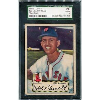 1952 Topps #30 Mel Parnell BB SGC 50 *6145 (Reed Buy)
