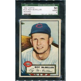 1952 Topps #137 Roy McMillan SGC 50 *7010 (Reed Buy)