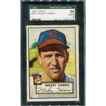 1952 Topps #207 Mickey Harris SGC 50 *7009 (Reed Buy)