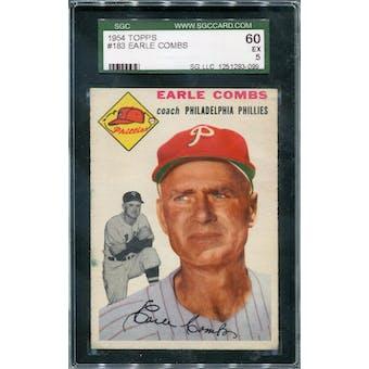 1954 Topps #183 Earle Combs SGC 60 *3099 (Reed Buy)